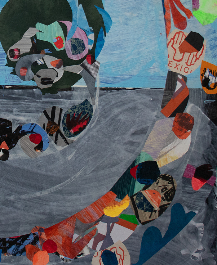 Works on Paper Collage on Paper