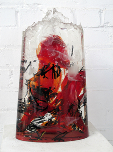 David Ruth Cast Glass Sculpture Ootu Glass