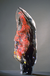 David Ruth Cast Glass Sculpture Early Work Glass