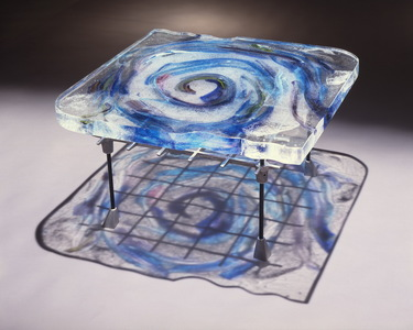 David Ruth Cast Glass Sculpture Commmissions  Cast glass, steel, aluminum