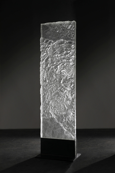 David Ruth Cast Glass Sculpture Geologic Series Cast Glass and Steel
