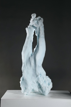 David Ruth Cast Glass Sculpture Ice Fragments Cast Glass