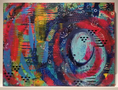 DAWN TAPPEN Spiraling Into Spring Acrylic on Canvas