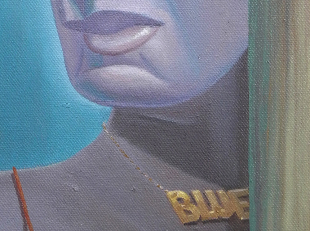Shift Paintings 2013-15  Blue (detail)