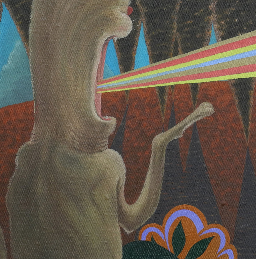 Shift Paintings 2013-15  The Temptation of St Anthony (detail)