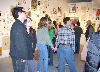 The Post Apocalyptic Tattoo: A Ten Year Survey, Curated by Carol Kino, Blue Star Contemporary Art Center, San Antonio, TX, Opening and Installation Views (2008)