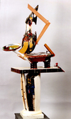 Vessel Series 1993-1994  mixed media wood sculpture