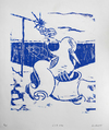 Vessel Series 1993-1994  lino cut on acid free paper (edition of 24)