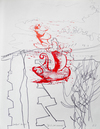 Vessel Series 1993-1994  lino cut on marker drawing (edition of 1)