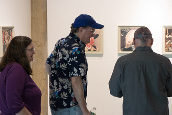 D. Dominick Lombardi - Artist - Writer - Curator Opening Reception of Saints, Sinners and the Collective Unconscious, Hampden Gallery, UMASS/Amherst (9.10.2017)