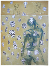 D. Dominick Lombardi - Artist - Writer - Curator Selected Works for Sale acrylic, ink, graphite and pastel on paper on canvas