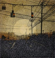 DeAnn L Prosia Etchings Line Etching with Watercolor
