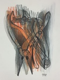 DeAnn L Prosia Drawings Colored pencil, conte and charcoal