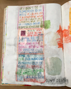 Books Watercolor paint, color pencil, found image, in bound sketchbook