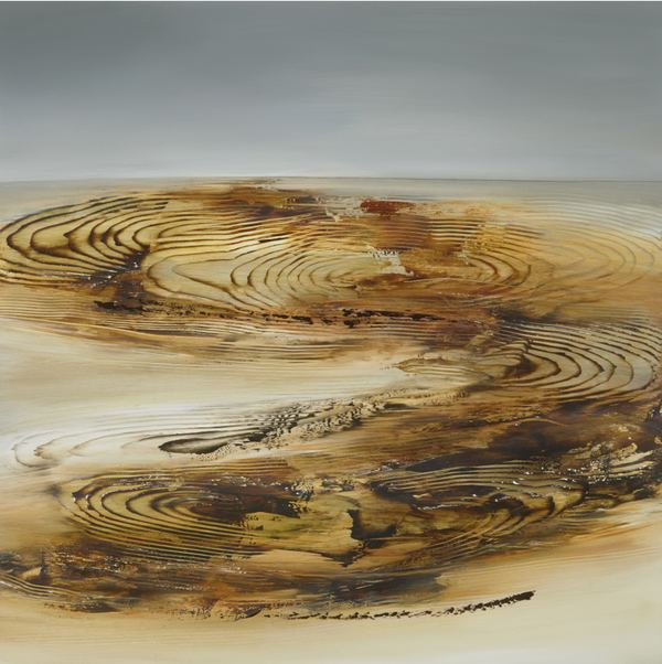 DEBORAH WEISS NEW TERRAIN oil on panel
