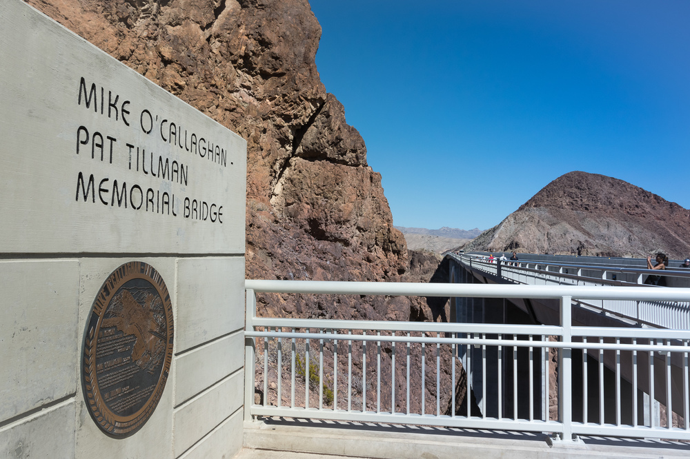Hoover Dam Entrance to the O'Calligan Tillman Memorial Bridge (Hoover Dam Bridge)