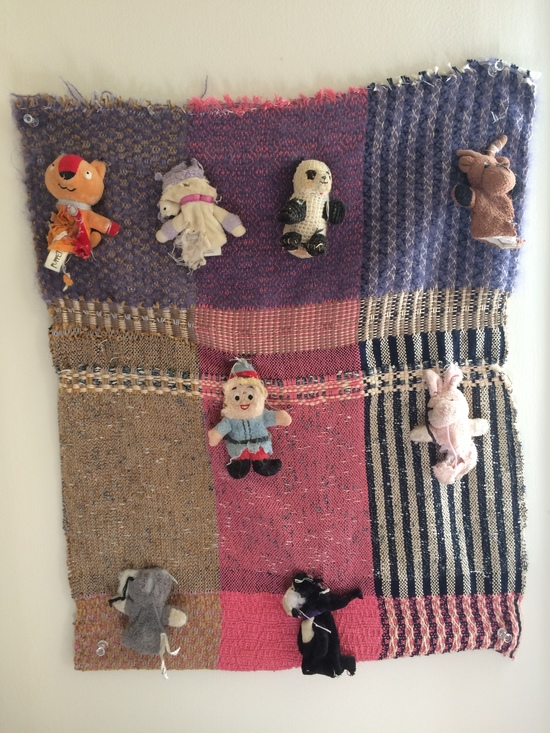 Textiles weaving and finger puppets