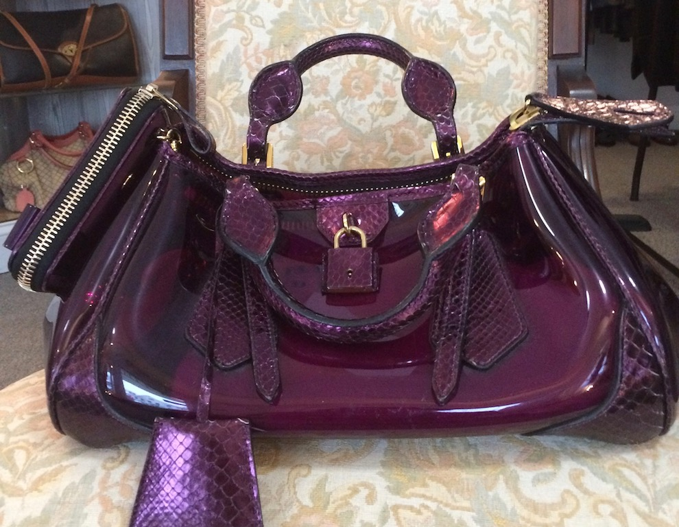 Objects  Purple Burberry PVC Pocketbook