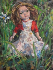 Deborah Sherman Dolls oil