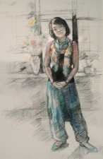 Deborah Sherman Portraits and Figures Pastel/charcoal