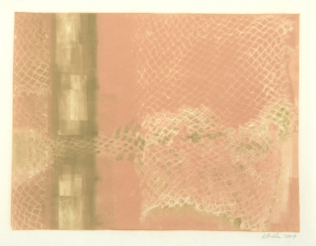 Debra Radke Landscape Phenomena Monotype on Kitakata Japanese paper
