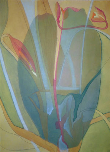 Debra Radke Botanicals Monoprint and Acrylic