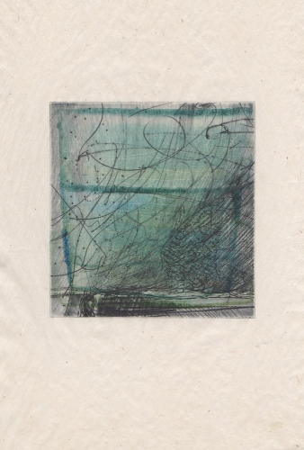Debra Radke Landscape Phenomena Drypoint technique monoprint on Kitikata
