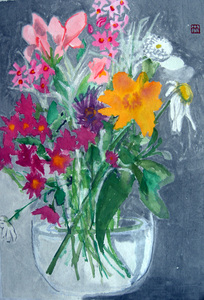 Deirdre Kennedy Flowers Watercolor on Rice Paper