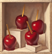 Denise Mickilowski Candy Apple Paintings oil on panel