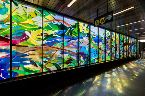 Diane Carr Public Art Commissions Laminated glass
