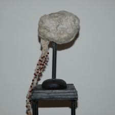 Diane Gabriel Sculpture Cottonwood tree seeds, thread,beads, cast iron