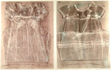 Diane Gabriel Prints Constructed fabric, Monotype, twig