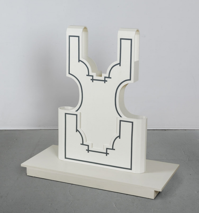 Diane Simpson Bibs, Vests, Collars, Tunic   (2006-2008) enamel, MDF, canvas