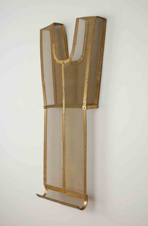 Diane Simpson Bibs, Vests, Collars, Tunic   (2006-2008) brass, brass mesh