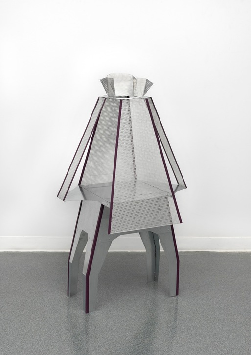 Diane Simpson Corbett vs Dempsey, Chicago, <i>Diane Simpson, </i> 2016 aluminum, galvanized steel, rivets and enamel
