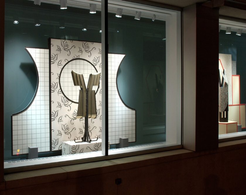 Diane Simpson  Racine Art Museum, Racine, Wisconsin,  <i>Window Dressing</i>, 2007-2008 mixed media
