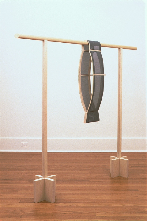 Diane Simpson Sleeves    (1996-2000) birch plywood, fiberglass screen, pine