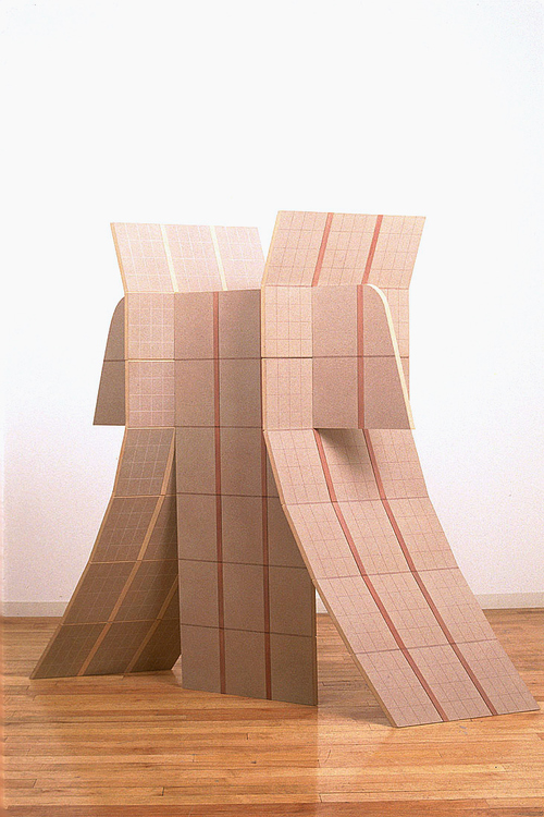 Diane Simpson Samurai (1981-1983) colored pencil, stained MDF and basswood