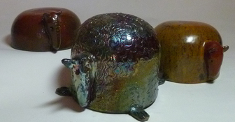 Diane Hardy Waller Sculpture and Art Clay.   high-fired or raku stoneware