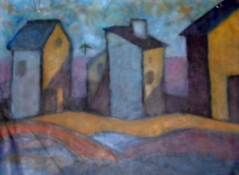 Diane Hardy Waller SCAPES,  Paintings city, town and land scapes Oil on Canvas