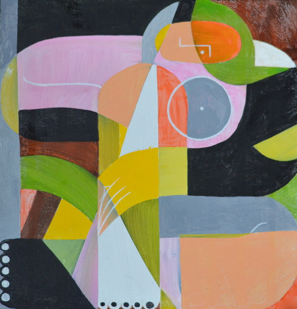 Domingo Carrasco Abstraction acrylic on panel