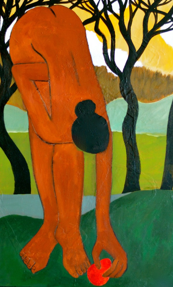 Domingo Carrasco Figures acrylic on panel