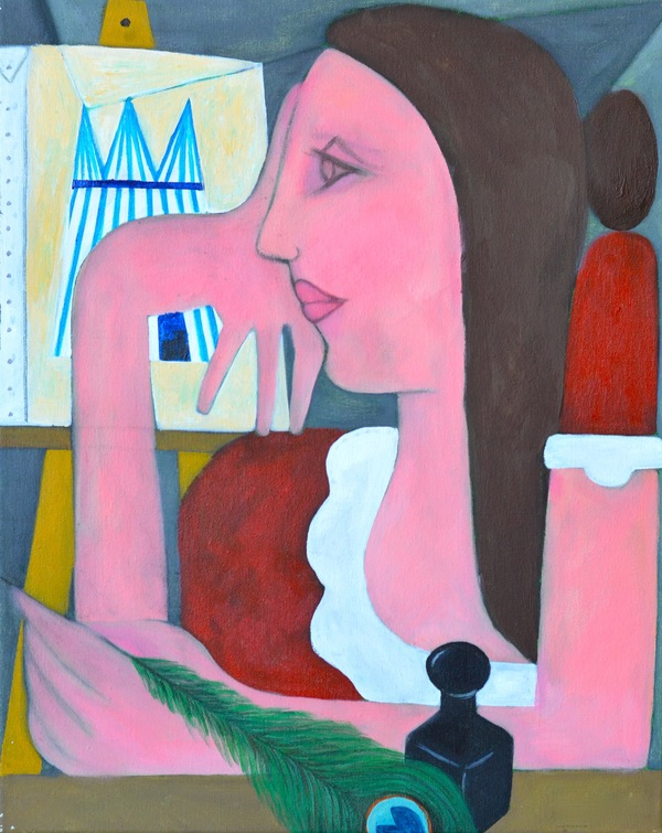 Domingo Carrasco Narrative acrylic on canvas