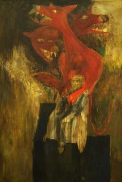 Donald Axleroad <i>The Human Condition</i> oil painting