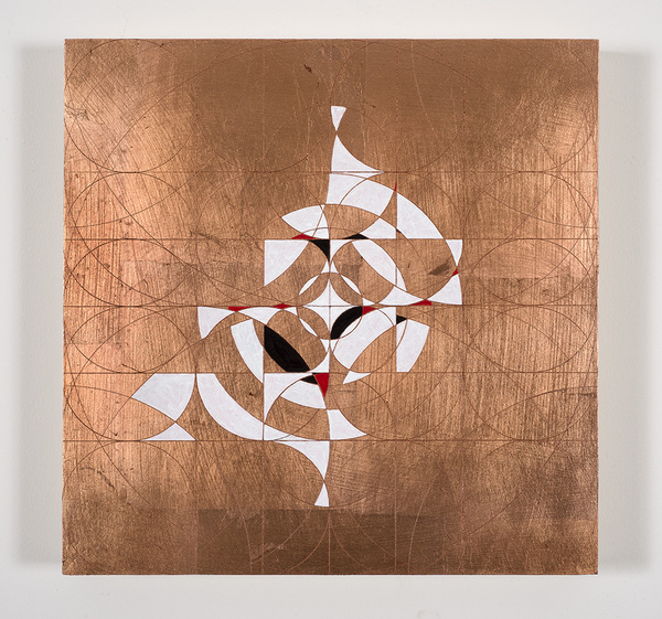 Copper leaf paintings Ner Tamid