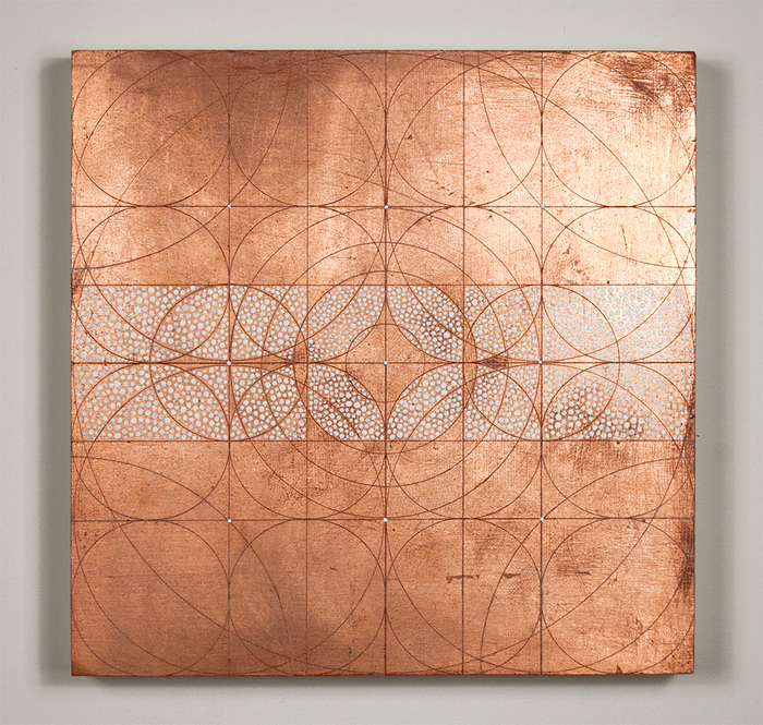 Copper leaf paintings Apris