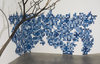 sculpture and installation cyanotypes on paper, tree branch