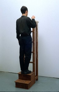 sculpture and installation Dictionary, lithography, wood stand