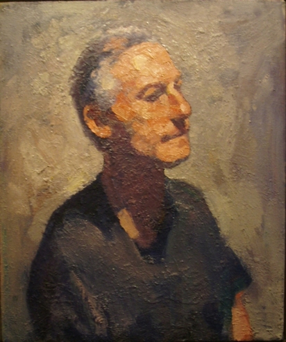 Don Wynn Portrait oil on canvas