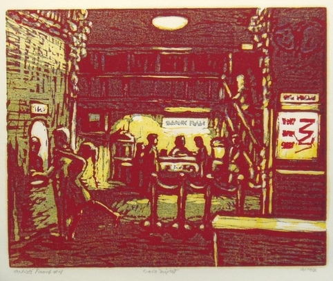 Don Wynn Date Night woodcut